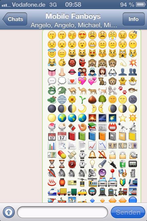 Neue Smileys Whatsapp
